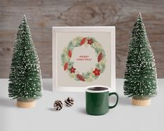 Free PSD | Scene creator mockup with christmas concept