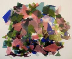 Bullseye SPRING Pink Aventurine Green Purple Cobalt Blue Confetti Glass Chips #Bullseye
