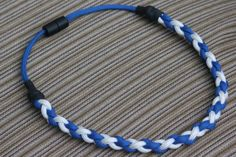 Paracord Necklace Royal Blue & White 18 by ParacordPeople on Etsy, $8.00