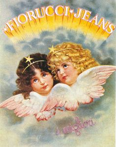 Editorial - A History Of Fiorucci Retro Poster, Poster Vintage, Angel Aesthetic, Aesthetic Vintage, Vintage Advertisements, Vintage Ads, Vintage Black, Arte Cyberpunk, Aesthetic Pictures