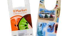 Ompele kestävä, pestävä kangaskassi muovikassikaavalla - hukkapaloista tulee sopiva pikkupussukka. Ompeluohje: kangaskassi muovikassin kaavalla. Reusable Tote Bags, Marketing, Handmade, Bag, Hand Made, Handarbeit