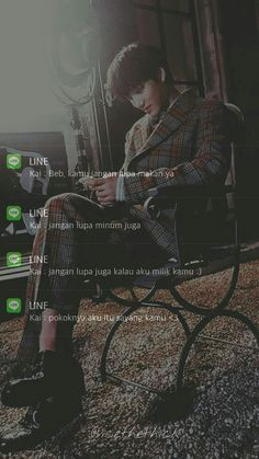 KAI FAKECHAT LOCKSCREEN Kpop Exo, Suho Exo, Kaisoo, Exo Kai, Chanbaek, Boyfriend Kpop, Dark Wallpaper Iphone, Exo Lockscreen, Boy Idols
