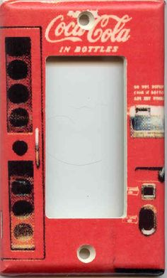 Coca Cola 1 GFI Rocker Decora Switchplate