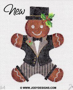 Gingerbread Groom Needlepoint Ornament  G4  Jody by JODYdirect, $40.00