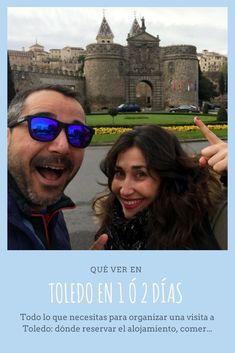 Todo lo que necesitas para organizar una visita a Toledo: dónde reservar el alojamiento, comer, qué ver y qué es eso que no te puedes perder. #viajar #españa #Toledo #tipsviaje #viajarporlibre Road Trip, Spain, Mens Sunglasses, Travel Blog, Koh Tao, Road Trips, Sevilla Spain, Men's Sunglasses, Spanish