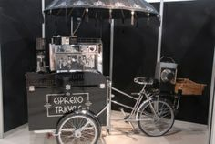 Espresso Tricycle - like the bike idea. keeps you in shape while you work!