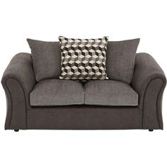 Aniston 2-Seater Sofa ($780) ❤ liked on Polyvore featuring home, furniture, sofas, woven furniture, pillow back sofa, patterned couch, colored furniture and patterned sofa