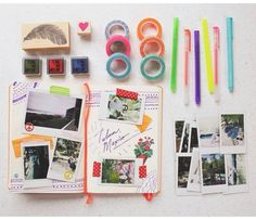 #polaroid#pen#booklet#stamps#love#becreative#