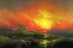 -pintura del siglo fascinantes-translúcidos ondas-19a-ivan-konstantinovich-aivazovsky-3