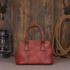 Handmade Women Genuine Leather Elegant Vegetable Tanned Leather Hand Bag fcf5b8f3d6