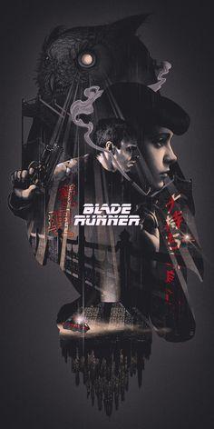 Blade Runner, by John Guydo.Blade Runner, by John Guydo.Blade Runner, by John Guydo. Best Movie Posters, Movie Poster Art, Cool Posters, Poster Design Movie, Original Movie Posters, Print Poster, Blade Runner Poster, Blade Runner Art, Blade Runner Wallpaper