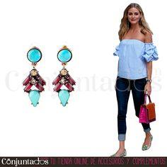 Los #pendientes Iaksi son bonitos, alegres y conjuntables con un buen número de colores. Serán una pieza clave en tu joyero ★ 11'95 € en https://www.conjuntados.com/es/pendientes-iaksi-en-rojo-y-turquesa.html ★ #novedades #earrings #conjuntados #conjuntada #joyitas #lowcost #jewelry #bisutería #bijoux #accesorios #complementos #moda #fashion #fashionadicct #picoftheday #outfit #estilo #style #GustosParaTodas #ParaTodosLosGustos