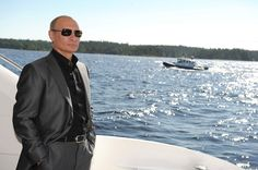 Putin looking shiny.   48 Photos Of Vladimir Putin Looking At Things