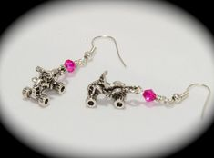 ~ATV/Quad Earrings~ Love these, minus the pink. I think I am going to make myself some!!