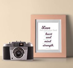 Love the Lord Your God Scripture Printable Print Heart, Soul, Mind, Strength Strength Bible Quotes, Greatest Commandment, Love Others, Love The Lord, Bible Scriptures, Letter Board, Mindfulness, Printables, How To Get