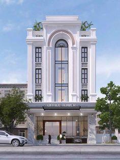 Villa Design, Facade Design, Exterior Design, Design Hotel, Condominium Architecture, Neoclassical Architecture, Brick Architecture, Village House Design, House Front Design