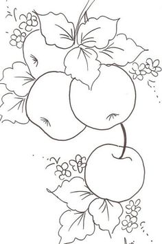 Осенние раскраски | OK.RU Fruit Painting, Tole Painting, Fabric Painting, Fabric Art, Fruit Coloring Pages, Coloring Book Pages, Hand Embroidery Patterns, Embroidery Designs, Painting Patterns