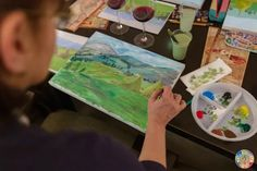 Wine & Paint Night Out – Art & Hobby Studio București Wine And Paint Night, Wine Painting, Night Out, Studio, Studios