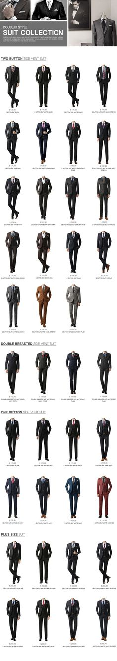 Different suit styles (scheduled via http://www.tailwindapp.com?utm_source=pinterest&utm_medium=twpin&utm_content=post23836316&utm_campaign=scheduler_attribution)