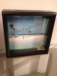 Hey, I found this really awesome Etsy listing at https://www.etsy.com/listing/219766395/honeymoon-fund-shadow-box-bank