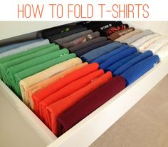 I fold tank, tees, and underwear like this now. It's much easier to find what I'm looking for quickly.