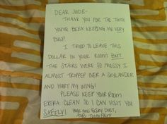 Tooth Fairy Letter and other no BS tips.