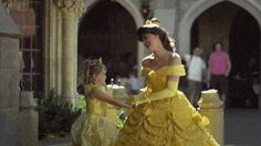 That time Belle greeted a mini-Belle on her level.