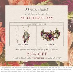 Mother's Day is vastly approaching!