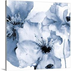 Abstract Canvas, Abstract Print, Canvas Wall Art, Canvas Prints, Art Prints, Big Canvas, No Rain No Flowers, Blue Flowers, Art Flowers