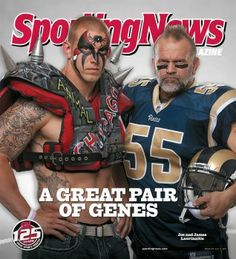 Road Warrior Animal (Joe Laurinaitis) & his son James Laurinaitis, who plays middle linebacker for the St. Louis Rams