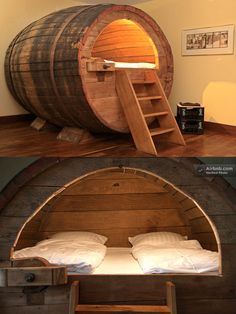 Sleeping in a historic beer barrel