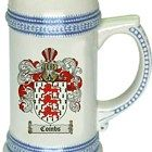Combs Coat of Arms / Family Crest stein mug