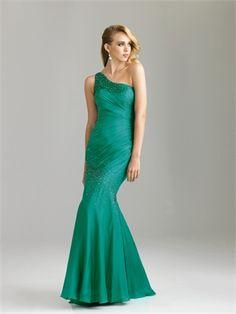 Beautiful One Shoudler Beaded Ruched Chiffon Prom Dress PD10644 www.dresseshouse.co.uk £115.0000