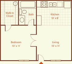 Tiny studio apartments Ideen Apartment Layout 400 Sq Ft The Advantages of a Gas Stove Article Bo The Plan, How To Plan, Studio Apartment Layout, Apartment Design, Studio Layout, Studio Apartment Floor Plans, Studio Floor Plans, Apartment Plans, One Bedroom Apartment