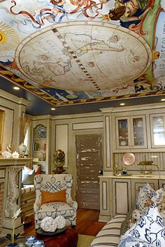 map ceiling.  image from: blogs.phillynews.com