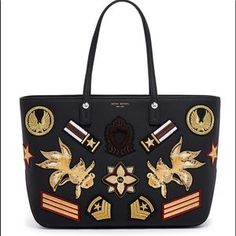 ebf45188 The West E/W Military Patch Tote is a designer leather handbag by Henri  Bendel, made for the force of fashion you bring to every situation!
