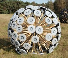 """Wind-powered land mine clearing device.  Seems like a no-brainer to win the """"Design of the Year"""" award from the London Design Museum."""