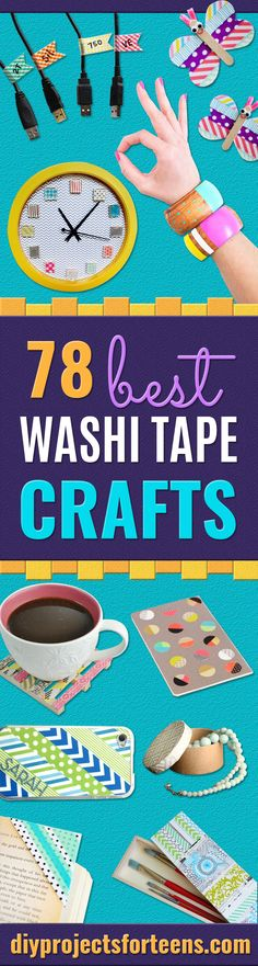 Hooked on washi tape crafts? We are, too!!! They are just so lovely and they add so much color to everything on a positive note! And since we love to make youhappy, we made another list of the really AWESOME-MAZING easy washi tape crafts you can make! These are unbelievably cool, cheap, creative a