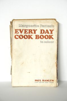Every Day Cook BooK, Marguerite Patten. Possibly the first book I cooked from. Old Recipes, Vintage Recipes, My Cookbook, Cook Books, Chefs, My Books, Cookery Books, Ancient Recipes