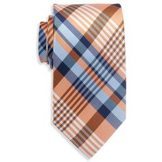 Saddlebred Orange Nardin Big Plaid Tie - Male (2280 RSD) ❤ liked on Polyvore featuring men's fashion, men's accessories, men's neckwear, ties and orange