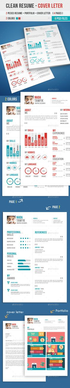 Free Psd Resume And Cover Letter Templates Freebies Template