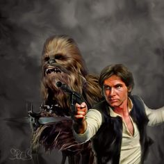 Chewbacca & Han Solo by Mark A Spears