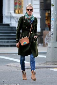 Under wraps: Nicky Hilton was wrapped up against the cold when she was seen out and about in Soho, NY on Wednesday