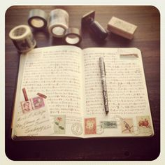 stamps and journal = love!