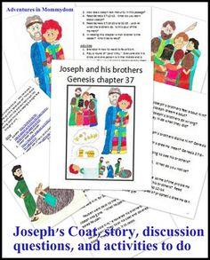 Joseph's coat storybook printable