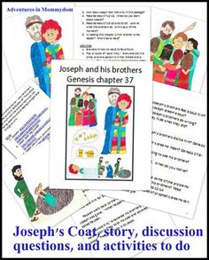 Joseph's coat storybook printable