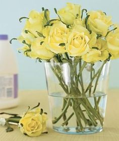 To get more bang for your bouquet, add a few drops of bleach to the water to prevent bacteria growth and keep stems from mildewing.