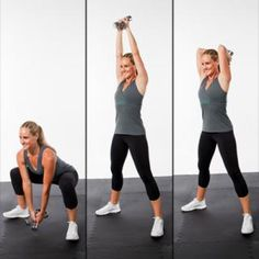 Sumo Squat to Tricep Extension - Fast Total-Body Workout: Two-in-One Strength-Training Exercises - Shape Magazine