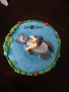 Jungle Book Cake by Bee the Baker father in law Jungle Book Party, Safari Theme Party, Birthday Parties, Birthday Cakes, Birthday Ideas, Book Cakes, Disney Cakes, Bakery Cakes, Disney Animation