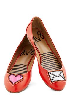 Icon Do Anything Flat in Heart by Dolce Vita - Flat, Faux Leather, Red, Quirky, Good, Novelty Print, Valentine's, Top Rated